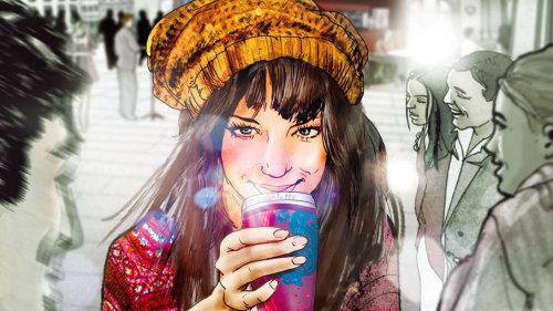 美与咖啡的插图