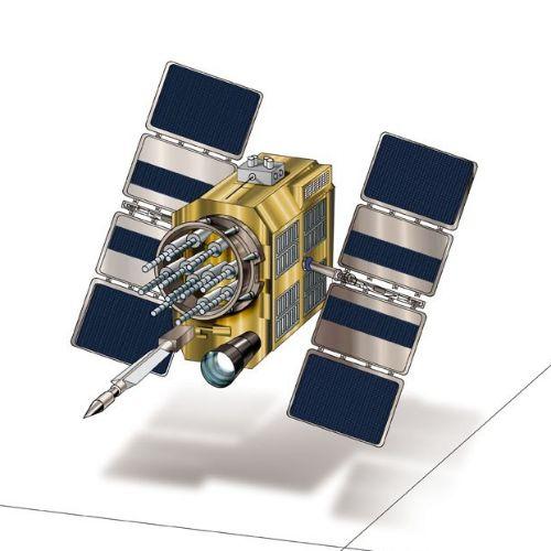 Digital painting of a satellite