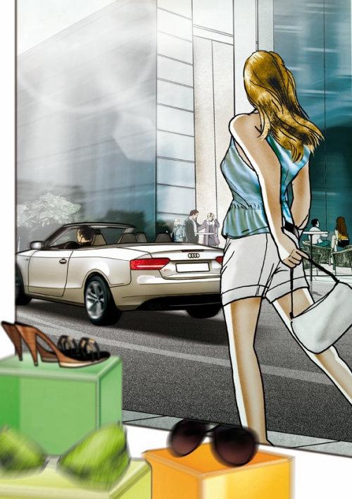 商业街与女人的体系结构