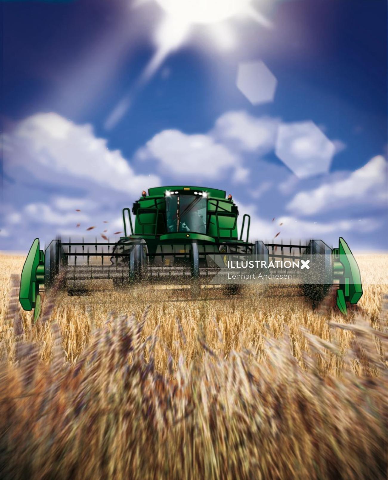Storyboard of Food harvesting machine
