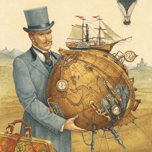 "illustration for ""Around the World in 80 Days"""