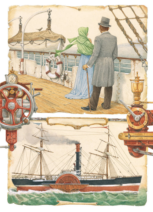 Man and woman at ship