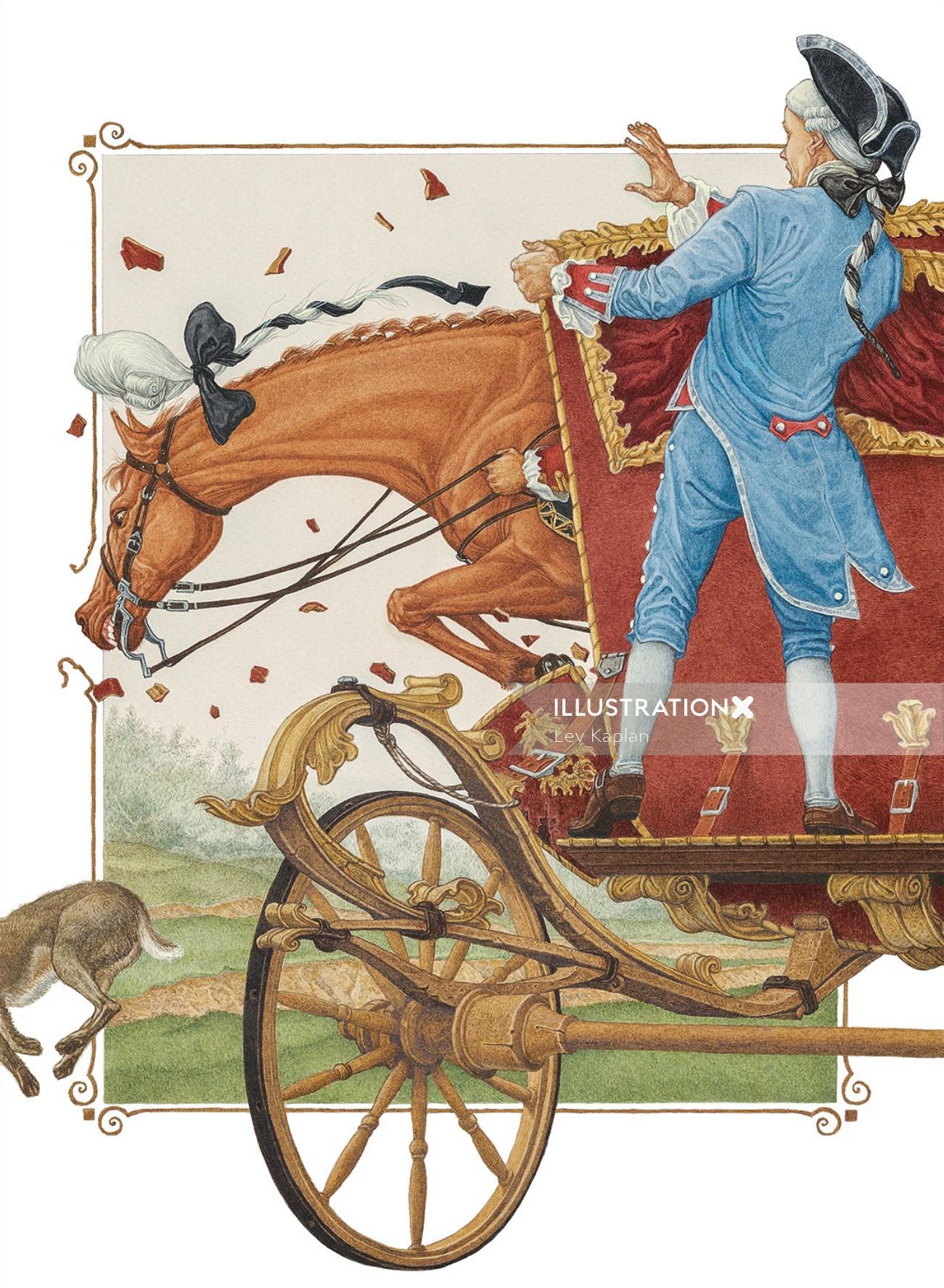Realistic horse illustration