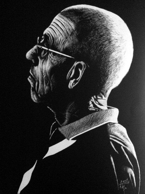 Illustration de portrait de vieil homme