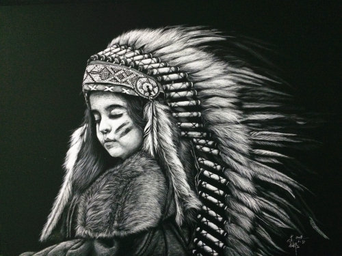 Fur Clothing black and white illustration