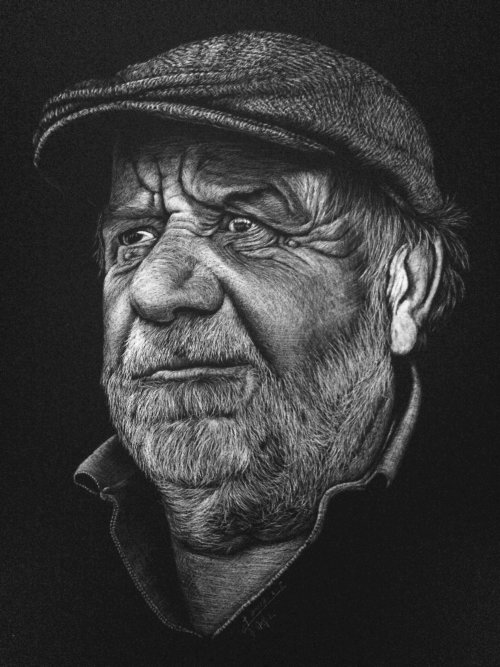 Portrait illustration of human