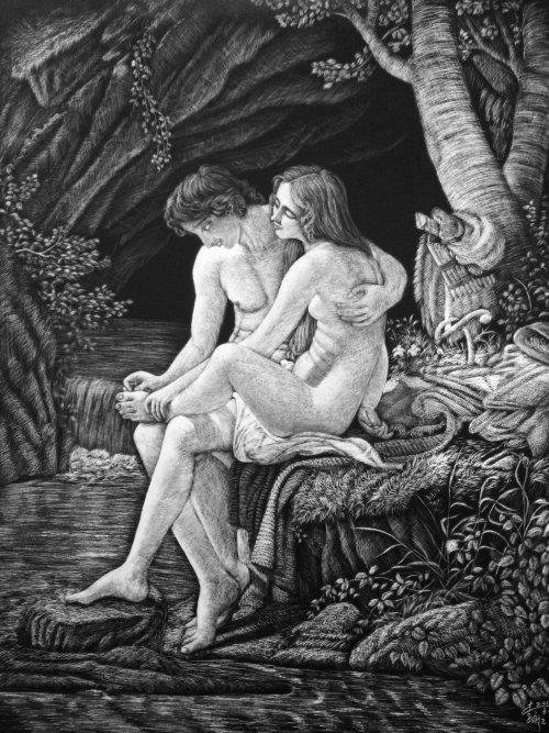 People illustration of Mythology