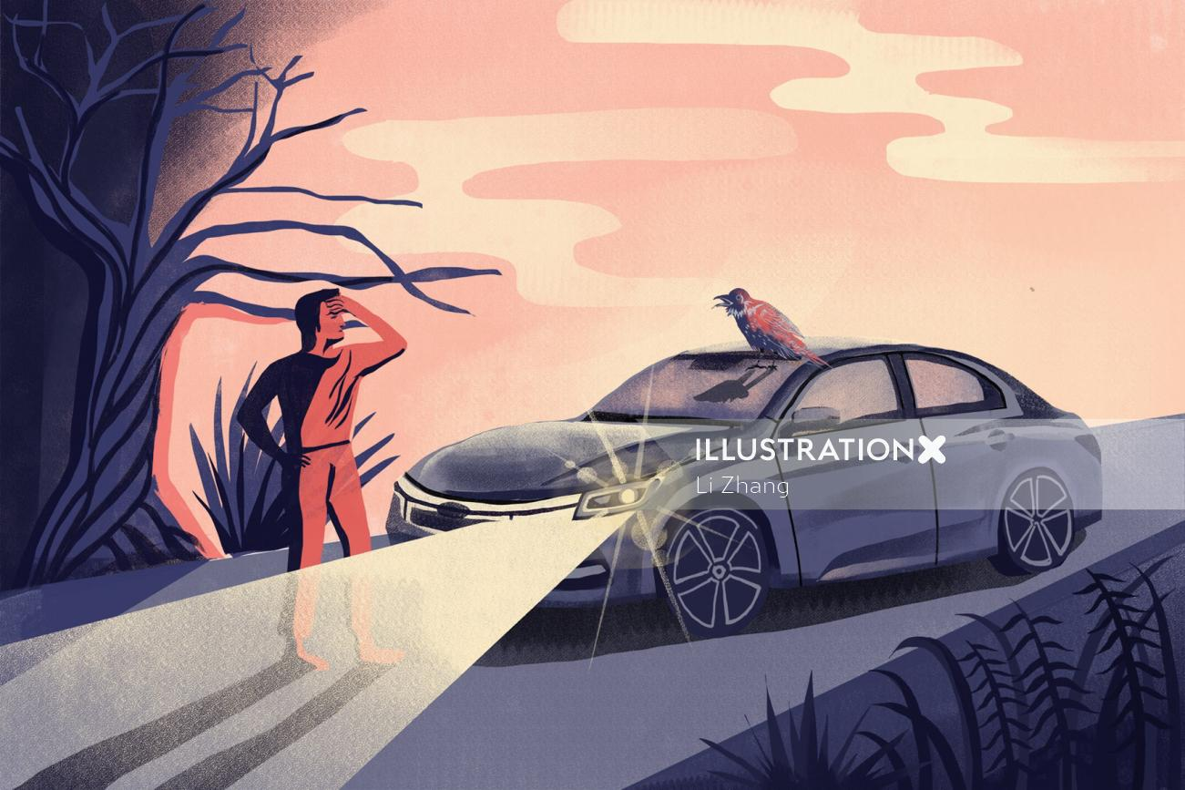 Car lamp can't turn off illustration for article in life wire