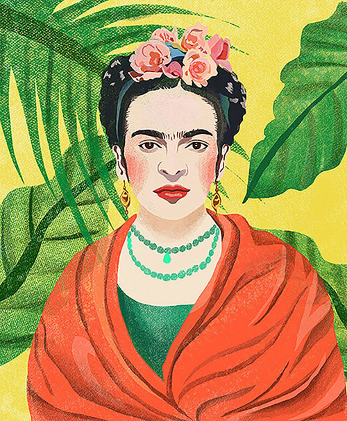 Digital portrait of Frida Kahlo