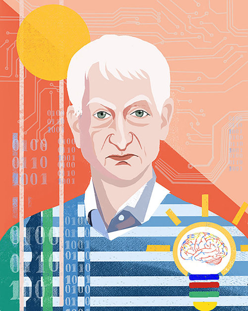 Art portrait de Geoffrey Hinton