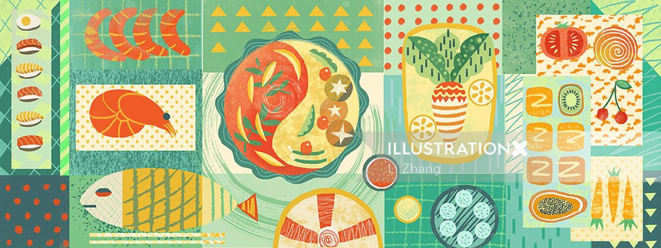 Food illustration of Food geometry