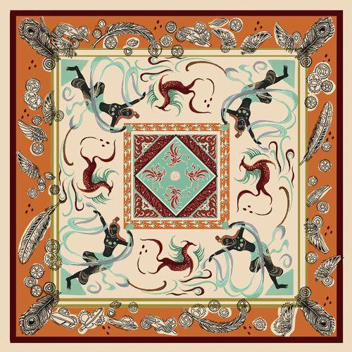 Unit illustration for international scarf design competition
