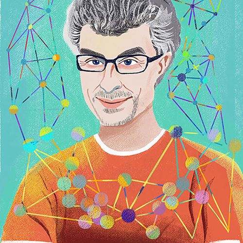 Yoshua Bengio portrait illustration