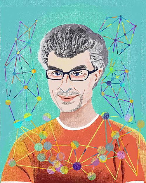 Illustration de portrait de Yoshua Bengio