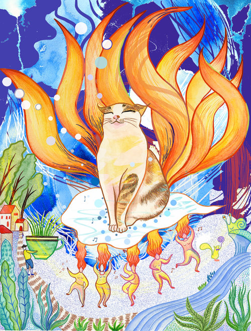 Lucky nine tails cat
