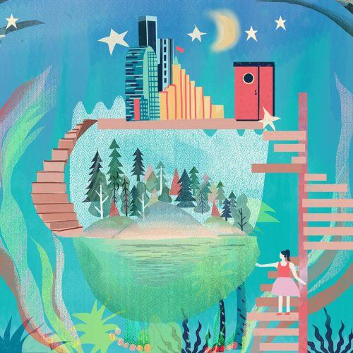 Graphic design of dream house