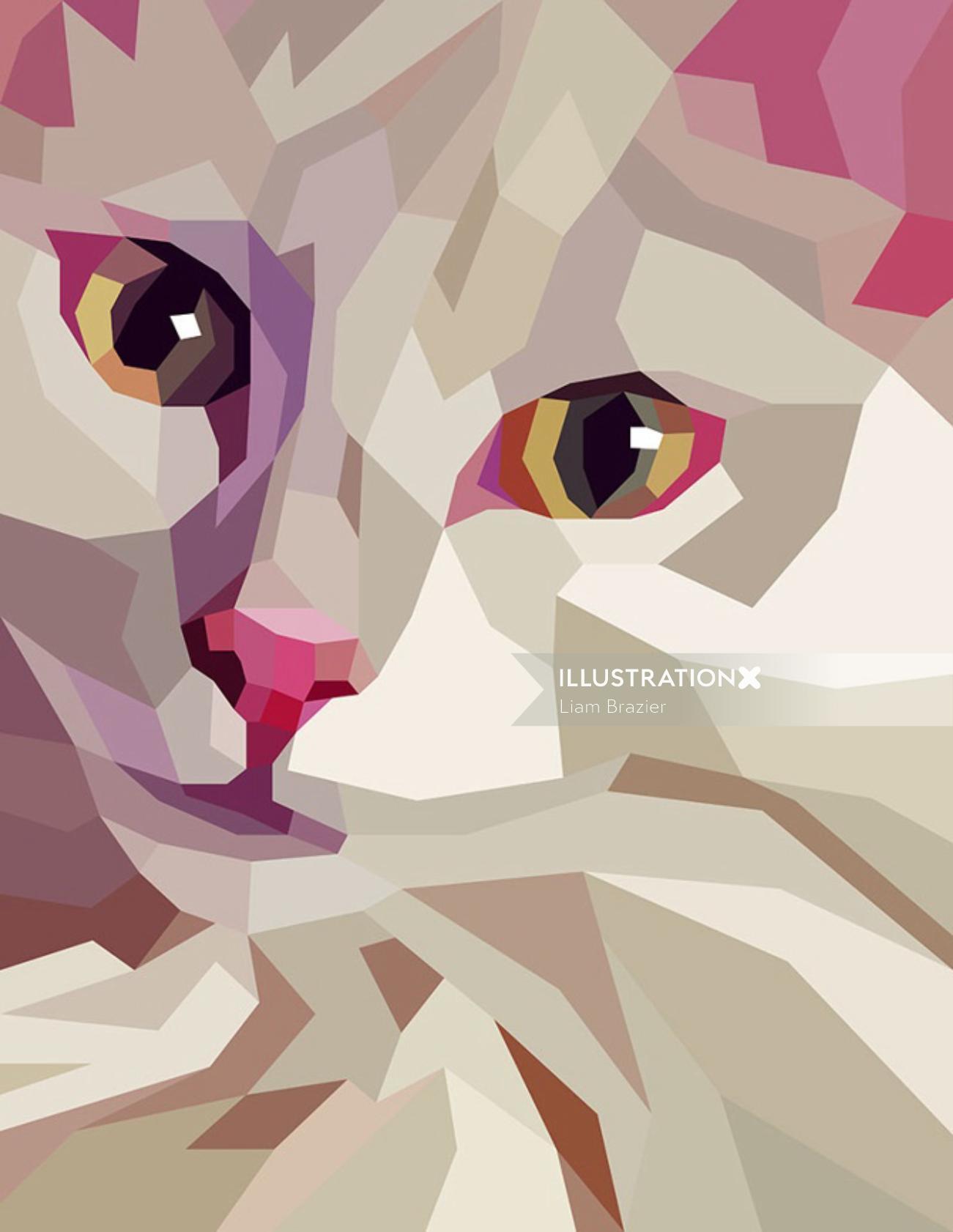 Digital pet portrair for A-Side B-Side Gallery