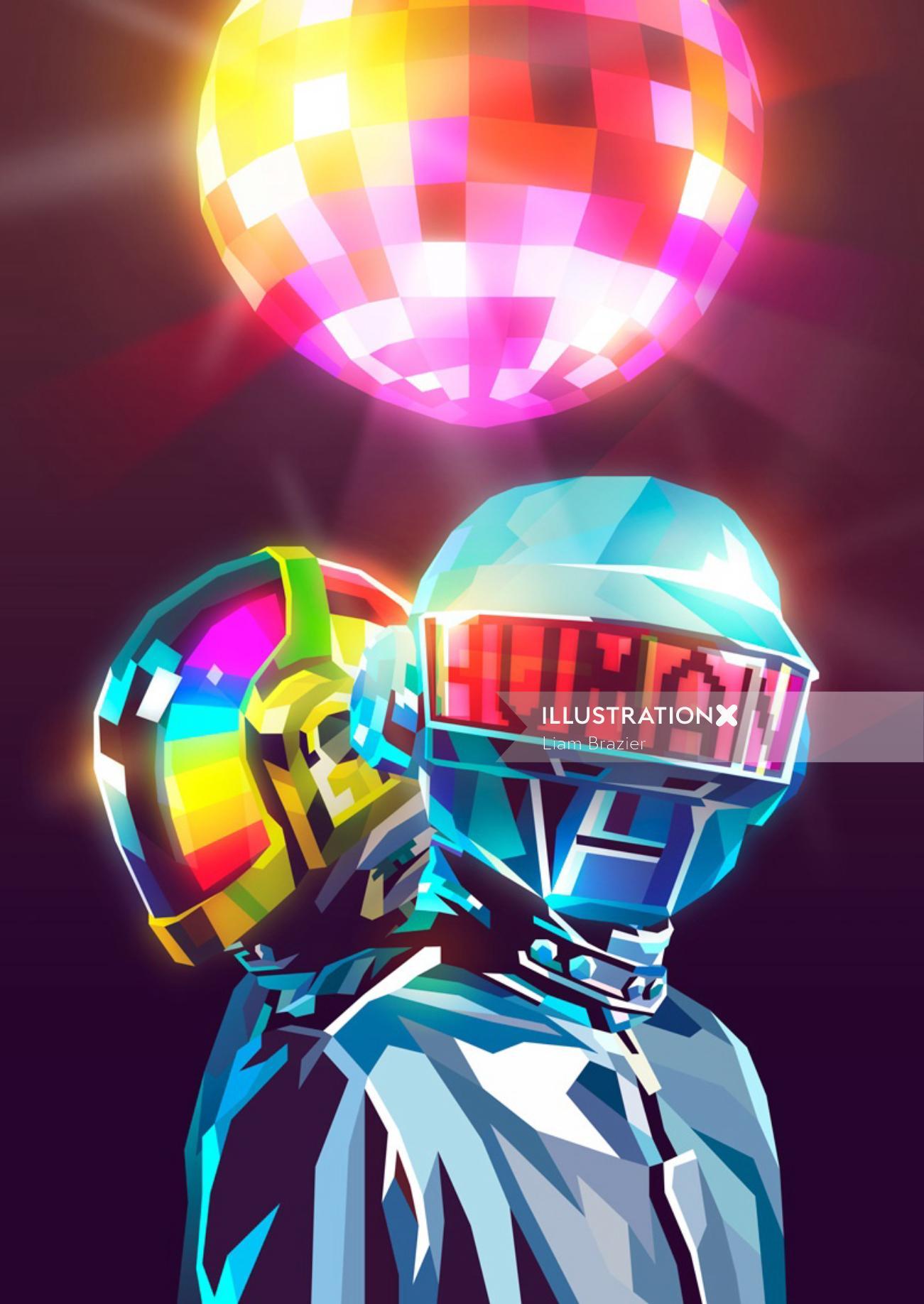 Being Human conceptual digital poster