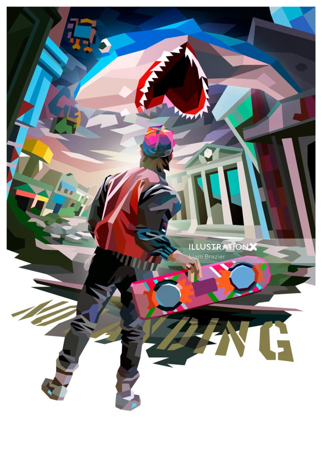 Conceptual Graphic image of Back to the Future Part II'