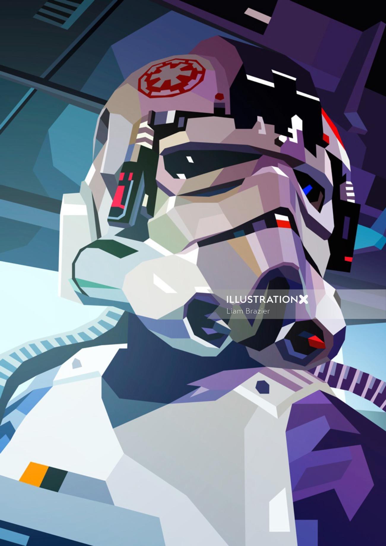 Fantasy Digital graphic poster AT-AT Driver