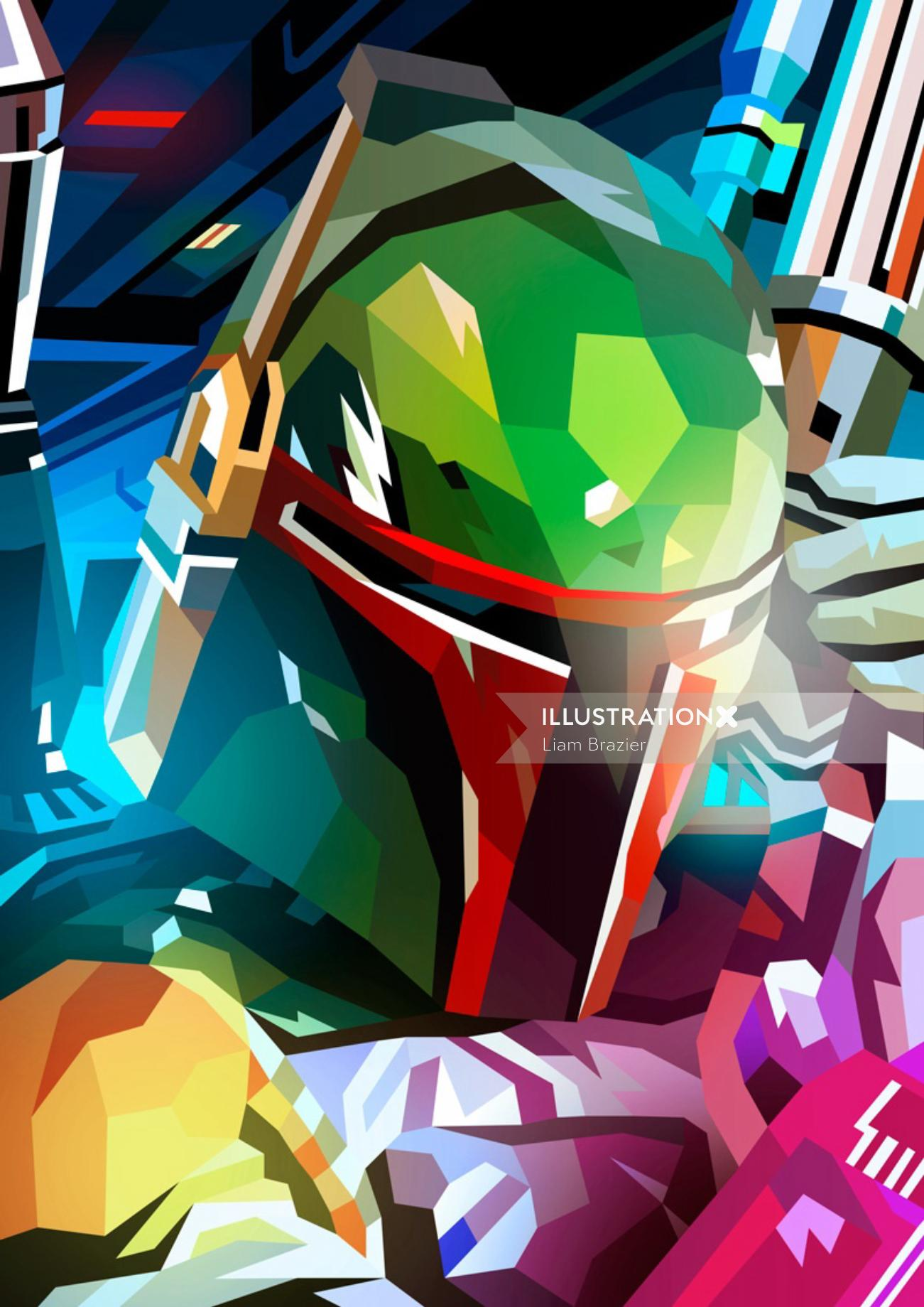 Fantasy Digital graphic poster Boba Fett