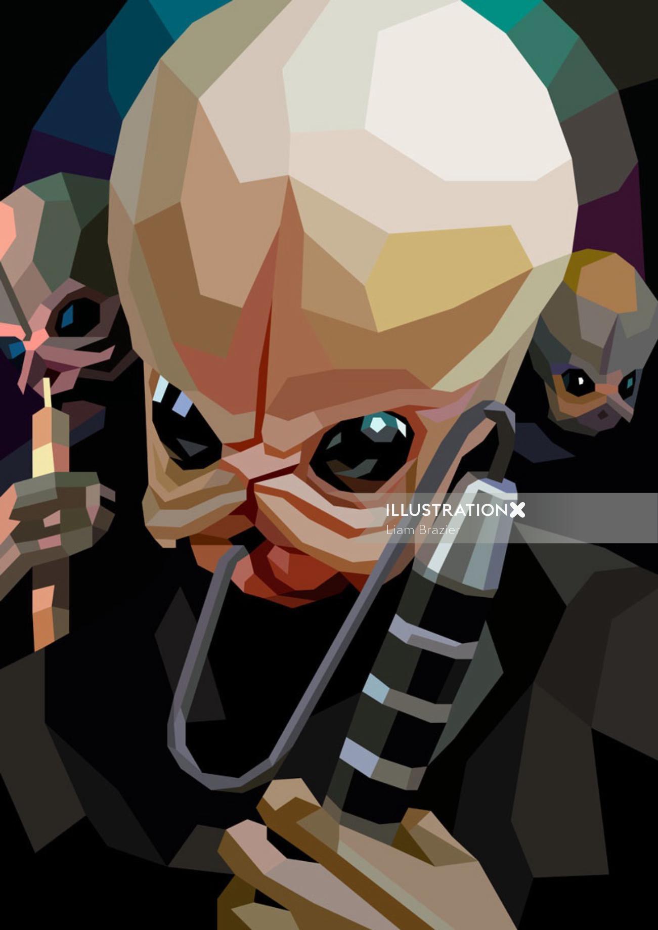 Fantasy Digital graphic poster Cantina Band