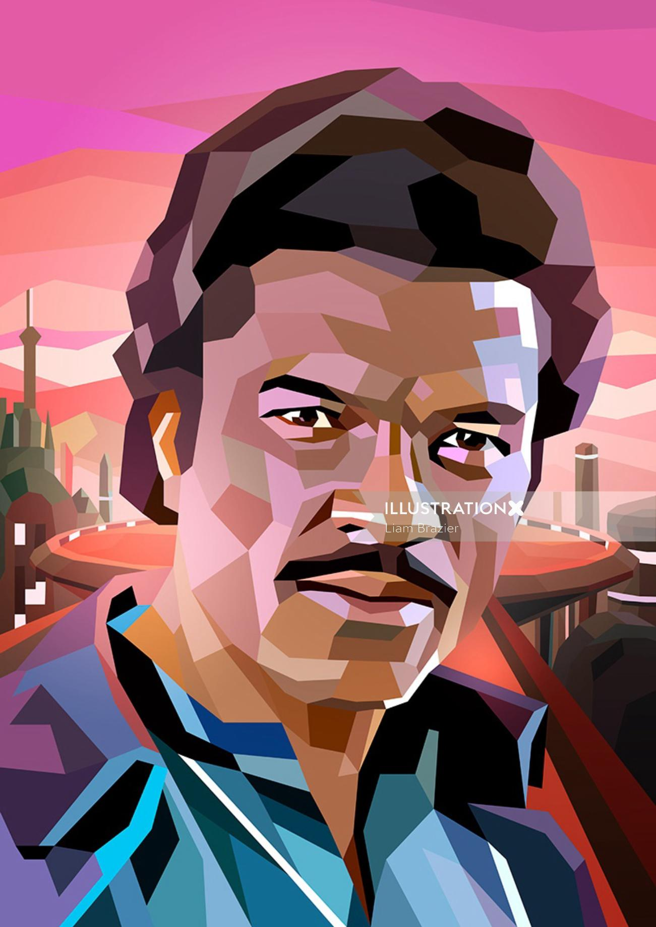 portrait of Lando Calrissian