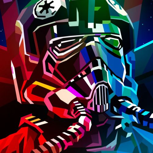 Digital Graphic TIE Fighter Pilot  Poster