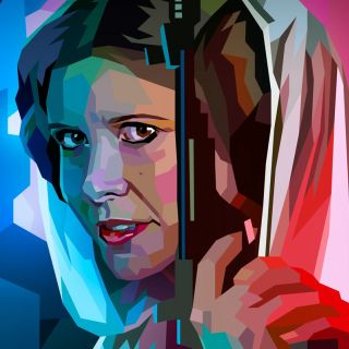 drawing of Princess Leia Organa