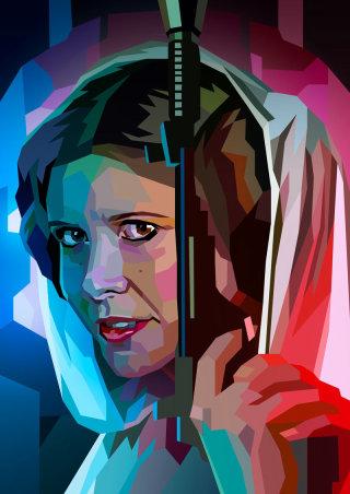 drawing of Princess Leia Organa