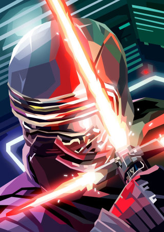 3D illustration of Kylo Ren, Star Wars