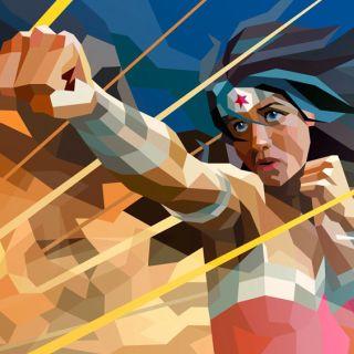3D artwork of a wonder Woman