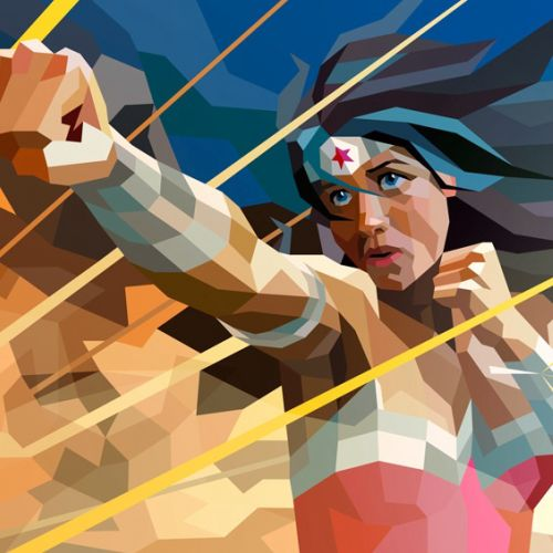 3D artwork of a wonder Woman