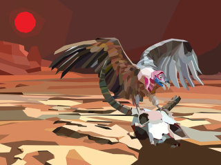3D illustration of an Eagle