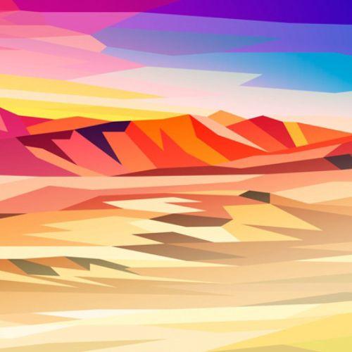 Contemporary landscape illustration