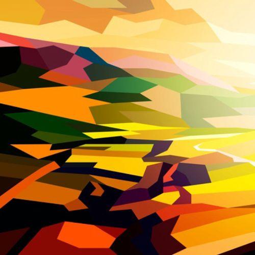 Graphic illustration of sun rise
