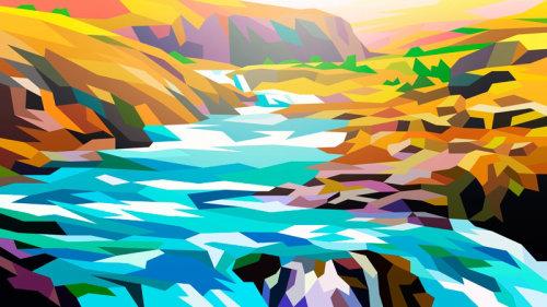 Rivière, paysage par Liam Brazier
