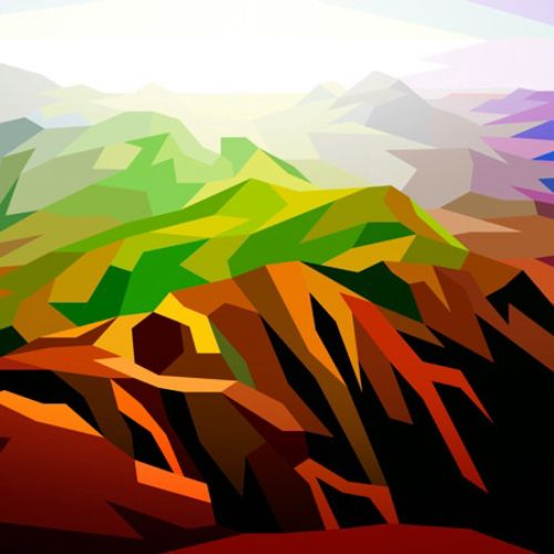 Graphic illustration of mountains