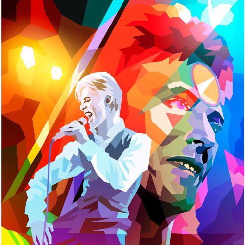 Digital illustration of Man singing