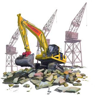 digger, jcb, construction, building