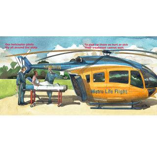 helicopter, child, air ambulance, children, cartoon