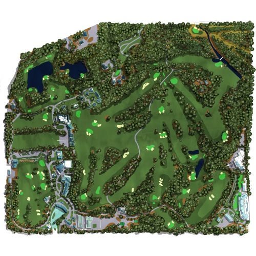 golf, arial view, satellite, sport