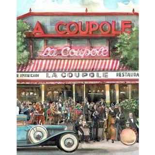 watercolour, line, architecture, cafe,paris, art deco, cars,