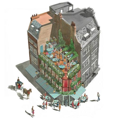 #architecture #Pub #restaurant #aerial