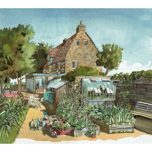 A country house with an allotment