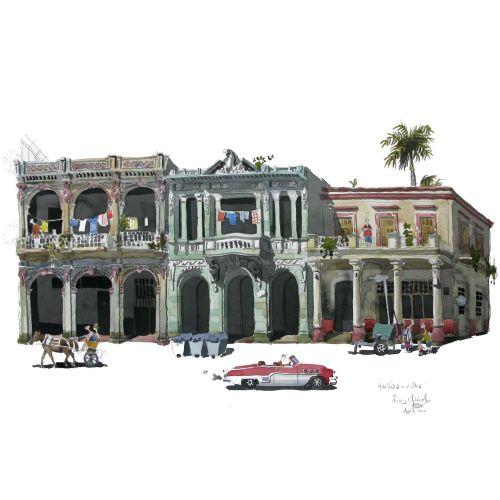 the main street in Havana, Cuba.