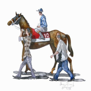 Illustration of Horse and trainers