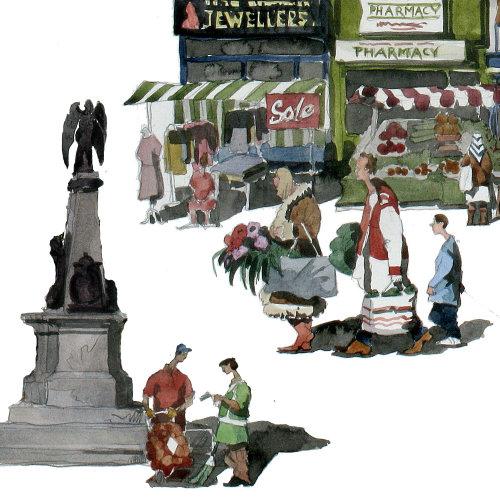 People at WhiteChapel Market