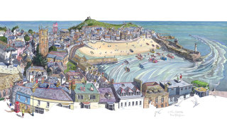 Illustration of St Ives in Cornwall