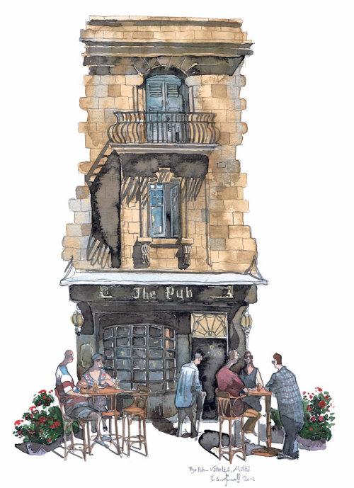 A pub in Valletta Malta.
